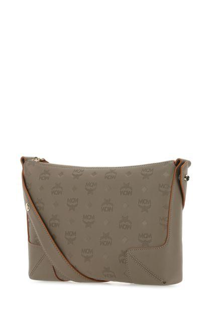Grey leather medium Klara shoulder bag