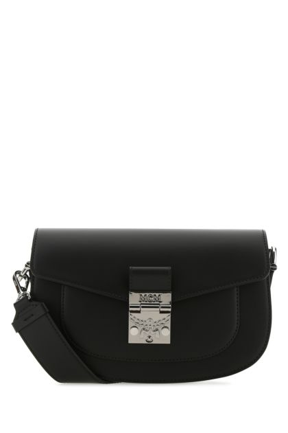 Black leather Patricia crossbody bag