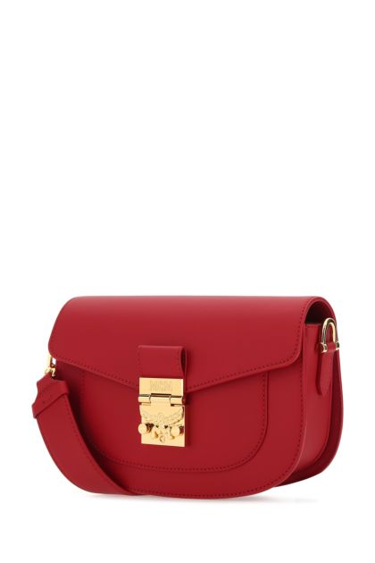 Red leather Patricia crossbody bag