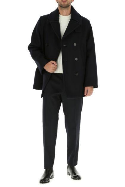 Midnight blue wool coat