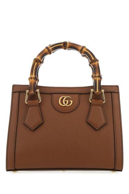 Brown leather mini Diana handbag