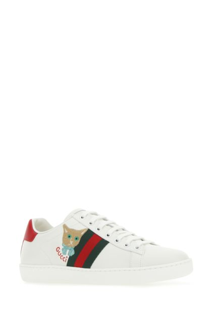 White leather Ace sneakers