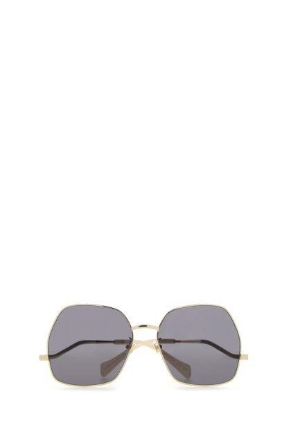 Gold metal sunglasses
