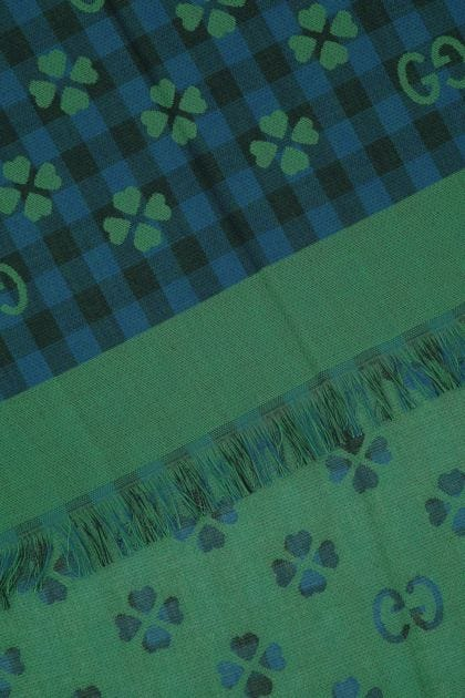 Embroidered cotton foulard