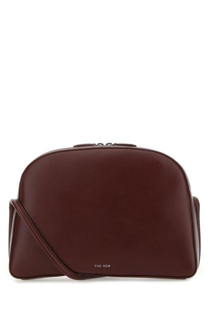 Burgundy leather Single Mignon crossbody bag