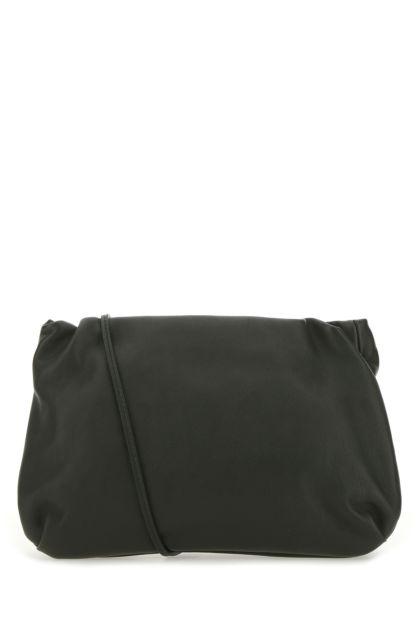 Dark green leather Bourse crossbody bag