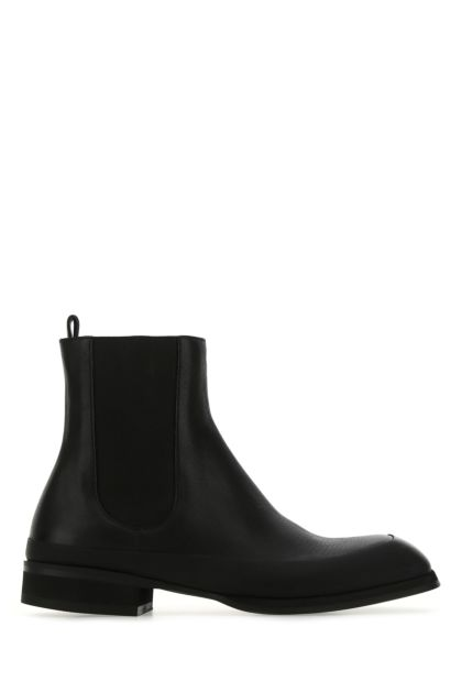 Black leather Garden ankle boots