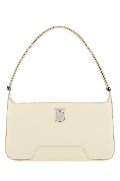 Ivory leather TB shoulder bag