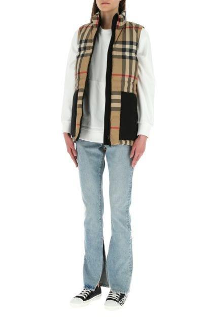 Printed polyester sleeveless down jacket