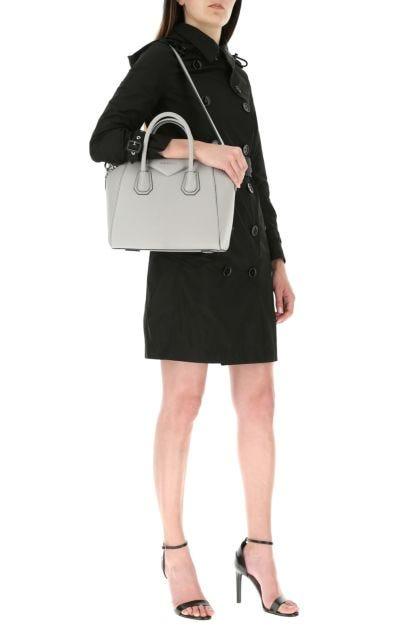 Black polyester Kensington trench coat