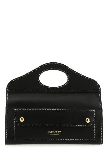 Black leather mini Pocket handbag