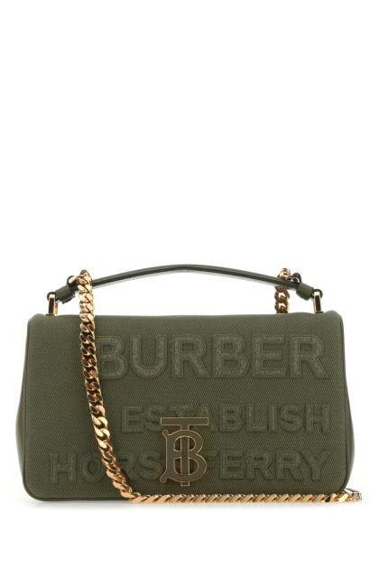 Army green canvas small Lola handbag