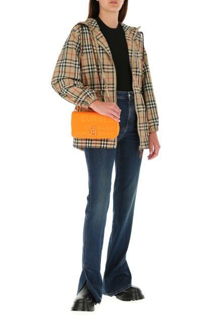 Orange linen blend small Lola handbag