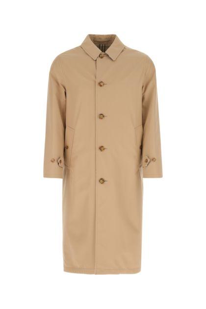 Cappuccino gabardine Keats reversibile trench coat