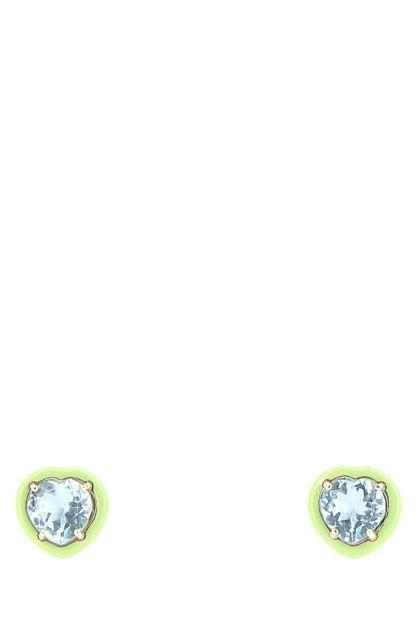 Light green Candy Heart earrings