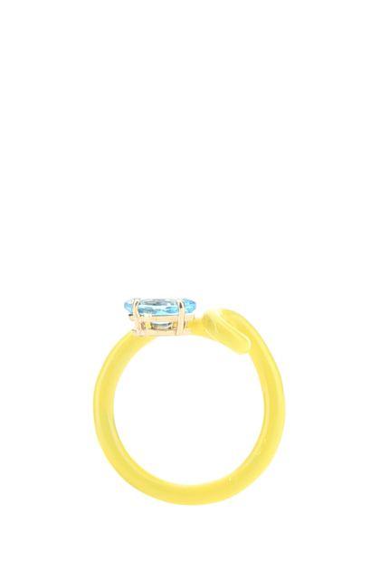 Yellow Baby Vine Tendril ring