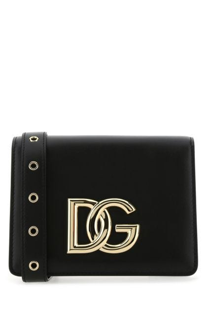 Black leather 3.5 crossbody bag