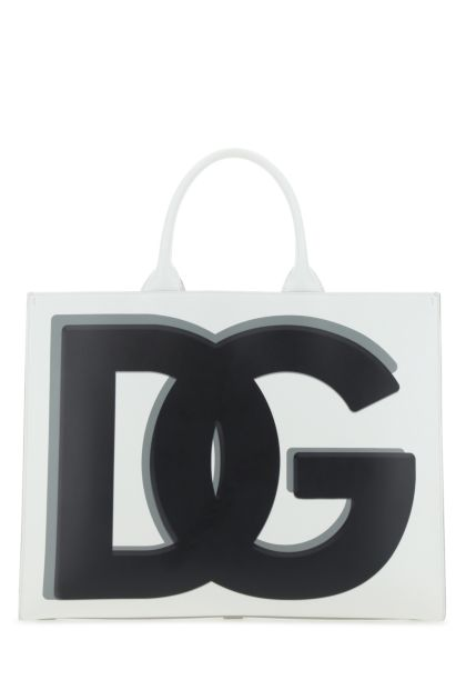 White leather large DG Daily shopping bag