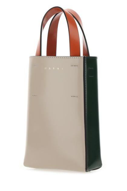 Multicolor leather nano Museo handbag
