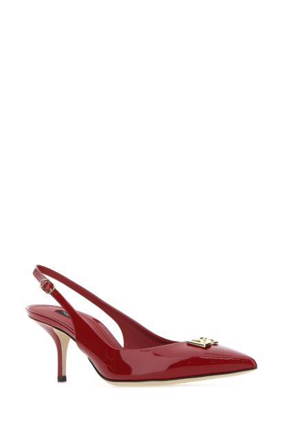 Tiziano red leather pumps