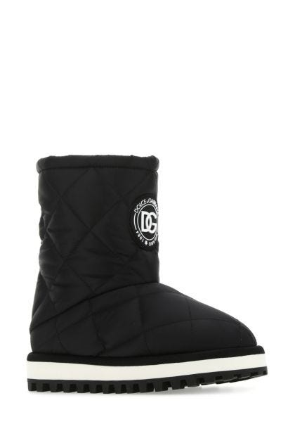 Black viscose blend ankle boots
