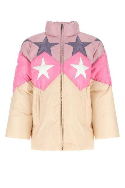 Multicolor nylon down jacket