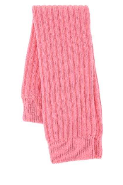 Pink stretch wool blend leg warmers