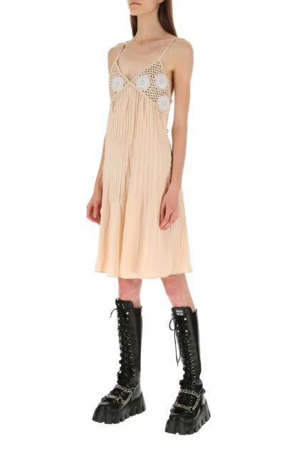 Powder pink satin dress