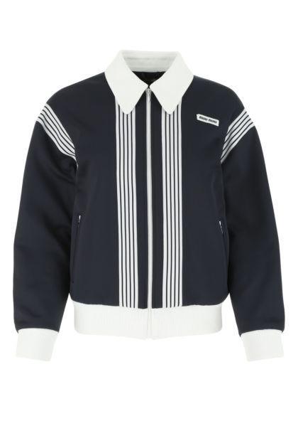 Two-tone polyester blend sweatshirt