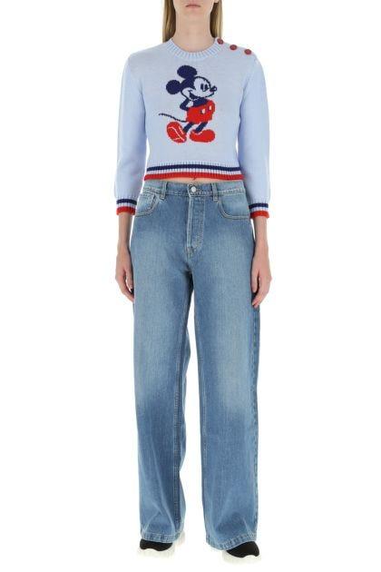 Powder blue wool sweater