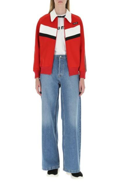 Multicolor stretch polyester sweatshirt