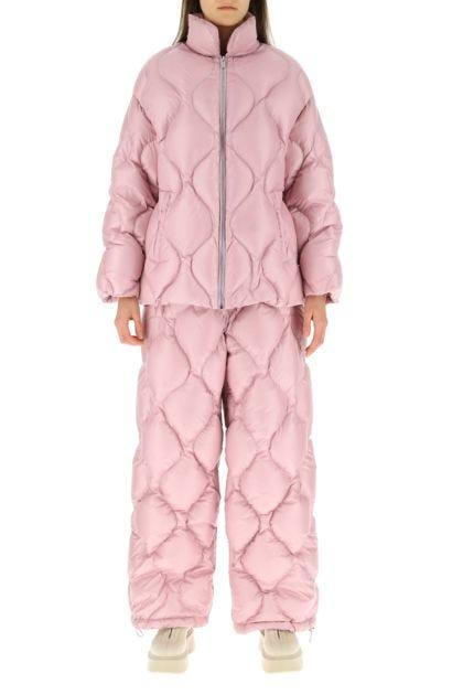 Pink nylon down jacket