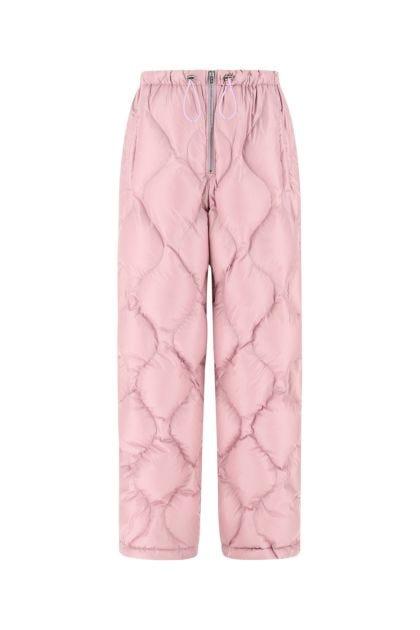 Pink nylon padded pant