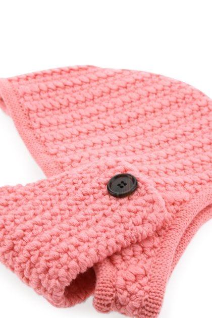 Pink wool balaclava