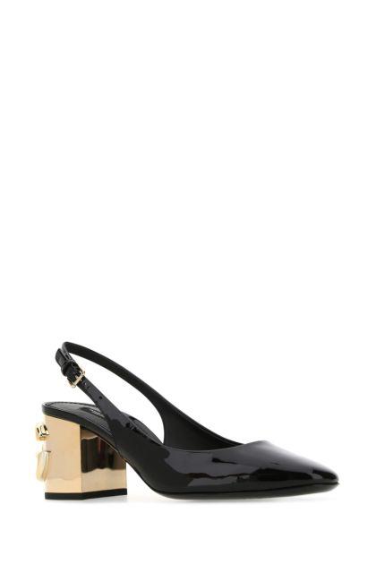 Black leather DG Karol pumps