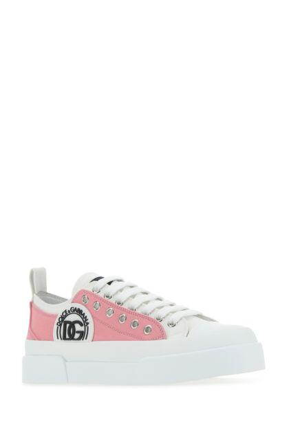 Two-tone canvas Portofino sneakers