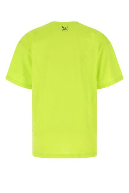 Acid green cotton t-shirt