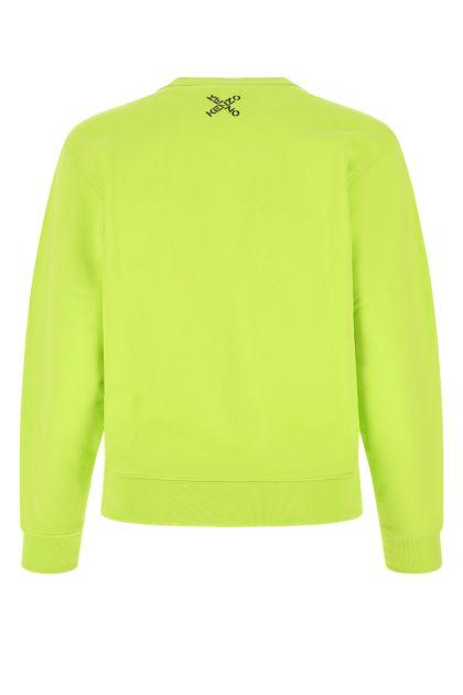 Acid green cotton blend sweatshirt