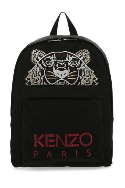 Black polyester blend Kampus Tiger backpack