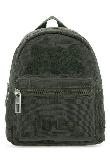Army green fabric mini Kampus Tiger backpack