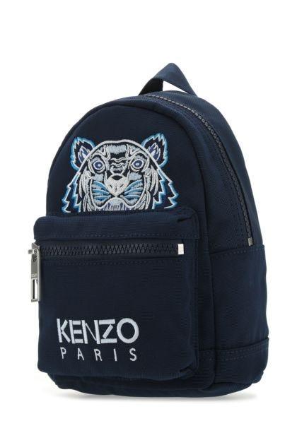 Teal green fabric mini Kampus Tiger backpack