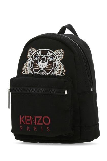 Black polyester blend mini Kampus Tiger backpack