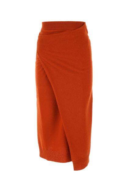 Brick wool skirt