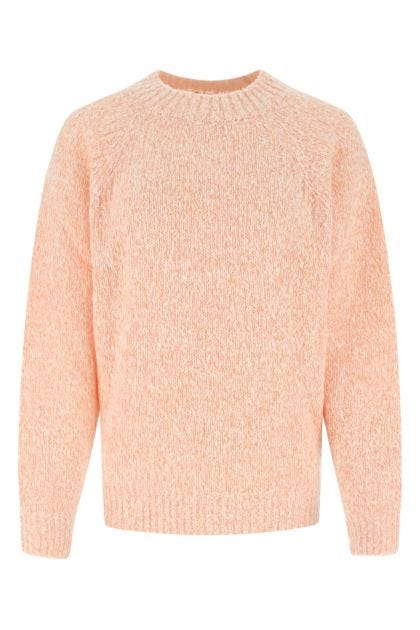 Two-tone wool blend sweater