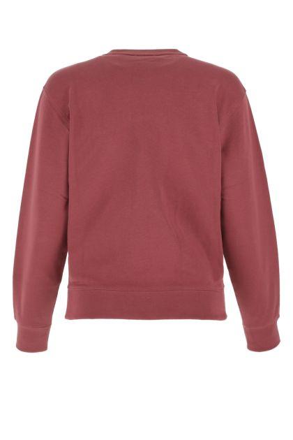 Dark pink cotton sweatshirt