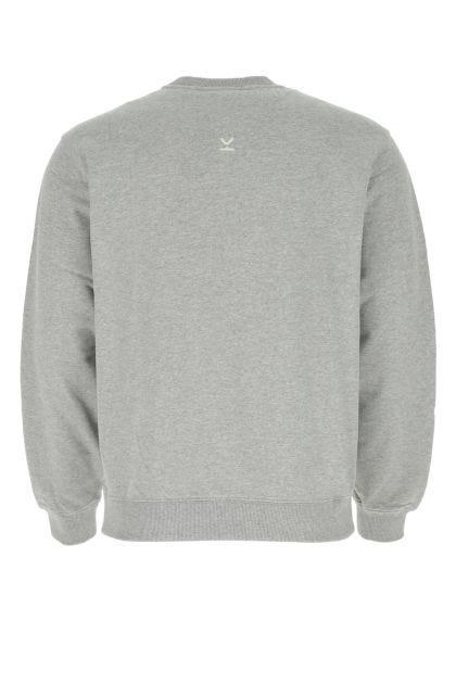 Melange grey cotton sweatshirt