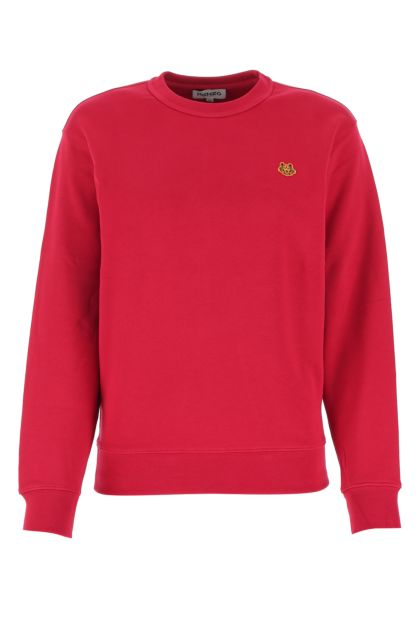 Tryan purple cotton sweatshirt