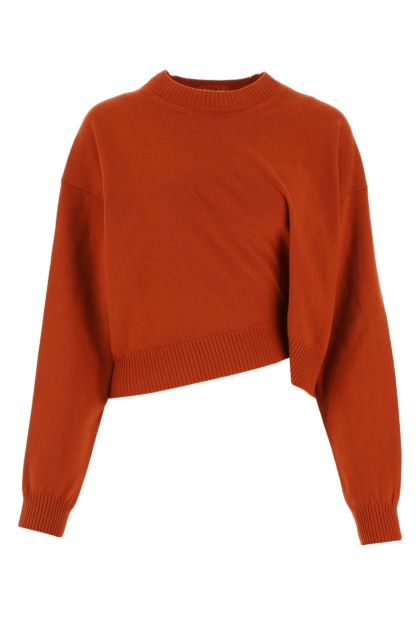 Brick wool sweater