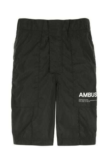 Back nylon bermuda shorts