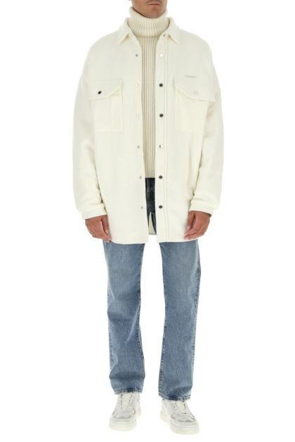 Ivory acrylic blend oversize shirt